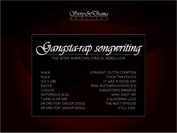 Gangsta-rap songwriting